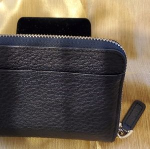 Bally Bags - Bally Embossed Leather Black Coin Wallet.